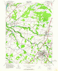 Hightstown New Jersey Historical topographic map, 1:24000 scale, 7.5 X 7.5 Minute, Year 1954