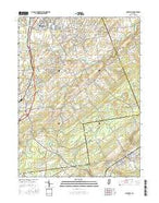 Hopewell New Jersey Current topographic map, 1:24000 scale, 7.5 X 7.5 Minute, Year 2016 from New Jersey Map Store