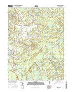 Indian Mills New Jersey Current topographic map, 1:24000 scale, 7.5 X 7.5 Minute, Year 2016 from New Jersey Map Store