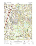 Jamesburg New Jersey Current topographic map, 1:24000 scale, 7.5 X 7.5 Minute, Year 2016 from New Jersey Map Store