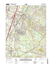 Jamesburg New Jersey Current topographic map, 1:24000 scale, 7.5 X 7.5 Minute, Year 2016 from New Jersey Maps Store
