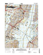 Jersey City New Jersey Current topographic map, 1:24000 scale, 7.5 X 7.5 Minute, Year 2016 from New Jersey Maps Store