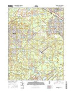 Keswick Grove New Jersey Current topographic map, 1:24000 scale, 7.5 X 7.5 Minute, Year 2016 from New Jersey Map Store