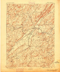 Lake Hopatcong New Jersey Historical topographic map, 1:62500 scale, 15 X 15 Minute, Year 1888