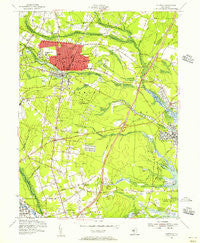Lakewood New Jersey Historical topographic map, 1:24000 scale, 7.5 X 7.5 Minute, Year 1954