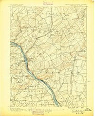 Lambertville Pennsylvania Historical topographic map, 1:62500 scale, 15 X 15 Minute, Year 1890