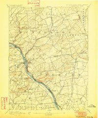 Lambertville Pennsylvania Historical topographic map, 1:62500 scale, 15 X 15 Minute, Year 1894