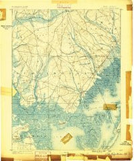 Little Egg Harbor New Jersey Historical topographic map, 1:62500 scale, 15 X 15 Minute, Year 1888