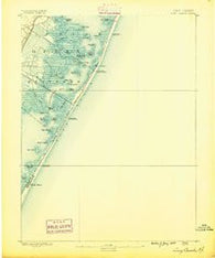 Long Beach New Jersey Historical topographic map, 1:62500 scale, 15 X 15 Minute, Year 1888