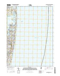 Long Branch East New Jersey Current topographic map, 1:24000 scale, 7.5 X 7.5 Minute, Year 2016
