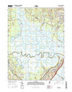 Marmora New Jersey Current topographic map, 1:24000 scale, 7.5 X 7.5 Minute, Year 2016 from New Jersey Map Store