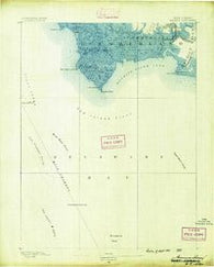 Maurice Cove New Jersey Historical topographic map, 1:62500 scale, 15 X 15 Minute, Year 1890