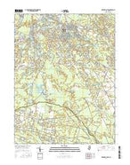 Medford Lakes New Jersey Current topographic map, 1:24000 scale, 7.5 X 7.5 Minute, Year 2016 from New Jersey Map Store