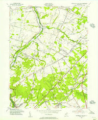 Monmouth Junction New Jersey Historical topographic map, 1:24000 scale, 7.5 X 7.5 Minute, Year 1954