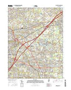 Moorestown New Jersey Current topographic map, 1:24000 scale, 7.5 X 7.5 Minute, Year 2016 from New Jersey Map Store