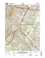 Morristown New Jersey Current topographic map, 1:24000 scale, 7.5 X 7.5 Minute, Year 2016 from New Jersey Map Store