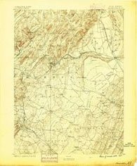 Morristown New Jersey Historical topographic map, 1:62500 scale, 15 X 15 Minute, Year 1888