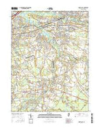 Mount Holly New Jersey Current topographic map, 1:24000 scale, 7.5 X 7.5 Minute, Year 2016 from New Jersey Map Store
