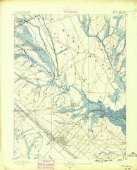 Mullica New Jersey Historical topographic map, 1:62500 scale, 15 X 15 Minute, Year 1890