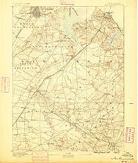 New Brunswick New Jersey Historical topographic map, 1:62500 scale, 15 X 15 Minute, Year 1888