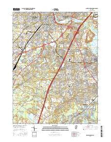 New Brunswick New Jersey Current topographic map, 1:24000 scale, 7.5 X 7.5 Minute, Year 2016