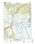 New Gretna New Jersey Current topographic map, 1:24000 scale, 7.5 X 7.5 Minute, Year 2016 from New Jersey Map Store
