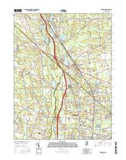 Newfield New Jersey Current topographic map, 1:24000 scale, 7.5 X 7.5 Minute, Year 2016 from New Jersey Maps Store