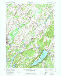 Newton East New Jersey Historical topographic map, 1:24000 scale, 7.5 X 7.5 Minute, Year 1954