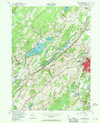 Newton West New Jersey Historical topographic map, 1:24000 scale, 7.5 X 7.5 Minute, Year 1954
