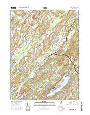 Newton East New Jersey Current topographic map, 1:24000 scale, 7.5 X 7.5 Minute, Year 2016 from New Jersey Maps Store
