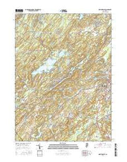 Newton West New Jersey Current topographic map, 1:24000 scale, 7.5 X 7.5 Minute, Year 2016 from New Jersey Maps Store