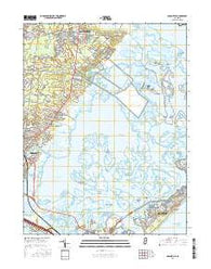 Oceanville New Jersey Current topographic map, 1:24000 scale, 7.5 X 7.5 Minute, Year 2016