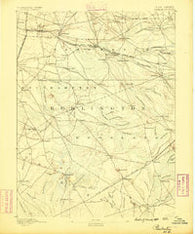 Pemberton New Jersey Historical topographic map, 1:62500 scale, 15 X 15 Minute, Year 1888