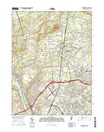 Pennington New Jersey Current topographic map, 1:24000 scale, 7.5 X 7.5 Minute, Year 2016 from New Jersey Map Store