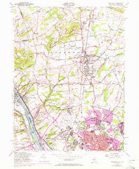Pennington New Jersey Historical topographic map, 1:24000 scale, 7.5 X 7.5 Minute, Year 1954