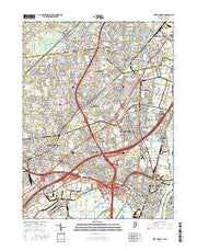 Perth Amboy New Jersey Current topographic map, 1:24000 scale, 7.5 X 7.5 Minute, Year 2016 from New Jersey Maps Store