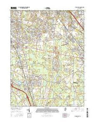 Pitman East New Jersey Current topographic map, 1:24000 scale, 7.5 X 7.5 Minute, Year 2016