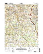 Pitman West New Jersey Current topographic map, 1:24000 scale, 7.5 X 7.5 Minute, Year 2016 from New Jersey Maps Store