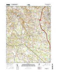 Pitman West New Jersey Current topographic map, 1:24000 scale, 7.5 X 7.5 Minute, Year 2016