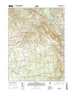 Pittstown New Jersey Current topographic map, 1:24000 scale, 7.5 X 7.5 Minute, Year 2016 from New Jersey Map Store