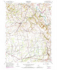 Pittstown New Jersey Historical topographic map, 1:24000 scale, 7.5 X 7.5 Minute, Year 1955