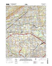 Plainfield New Jersey Current topographic map, 1:24000 scale, 7.5 X 7.5 Minute, Year 2016 from New Jersey Maps Store