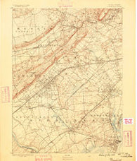 Plainfield New Jersey Historical topographic map, 1:62500 scale, 15 X 15 Minute, Year 1888