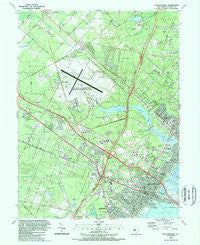 Pleasantville New Jersey Historical topographic map, 1:24000 scale, 7.5 X 7.5 Minute, Year 1989
