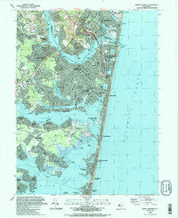 Point Pleasant New Jersey Historical topographic map, 1:24000 scale, 7.5 X 7.5 Minute, Year 1989