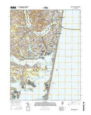 Point Pleasant New Jersey Current topographic map, 1:24000 scale, 7.5 X 7.5 Minute, Year 2016 from New Jersey Maps Store