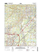 Princeton New Jersey Current topographic map, 1:24000 scale, 7.5 X 7.5 Minute, Year 2016 from New Jersey Map Store