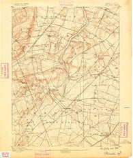 Princeton New Jersey Historical topographic map, 1:62500 scale, 15 X 15 Minute, Year 1888