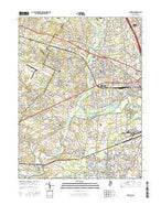 Raritan New Jersey Current topographic map, 1:24000 scale, 7.5 X 7.5 Minute, Year 2016 from New Jersey Map Store