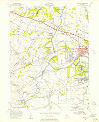 Raritan New Jersey Historical topographic map, 1:24000 scale, 7.5 X 7.5 Minute, Year 1955